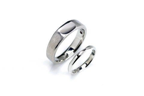 福岡北九州小倉手造り結婚指輪我流鍛造印台6mm幅