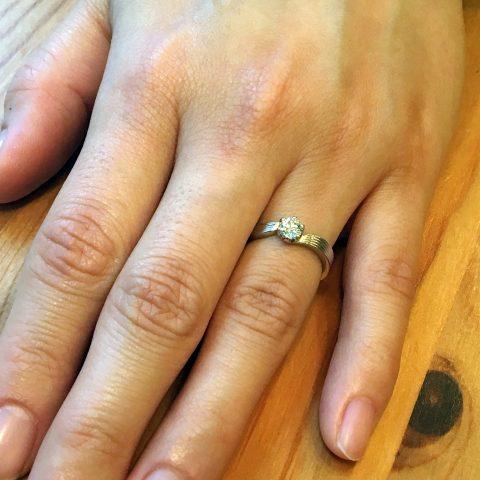 小倉北九州DITIQUE婚約指輪握手デザイン