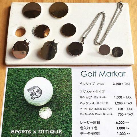 ゴルフマーカーグリーンマーカー福岡北九州小倉DITIQUE