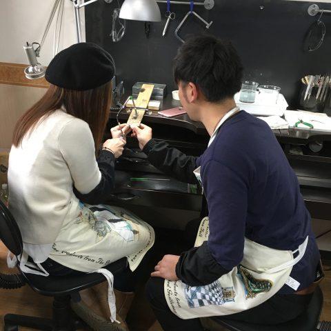福岡北九州大分DITIQUE手づくり結婚指輪M様ハートふたりで