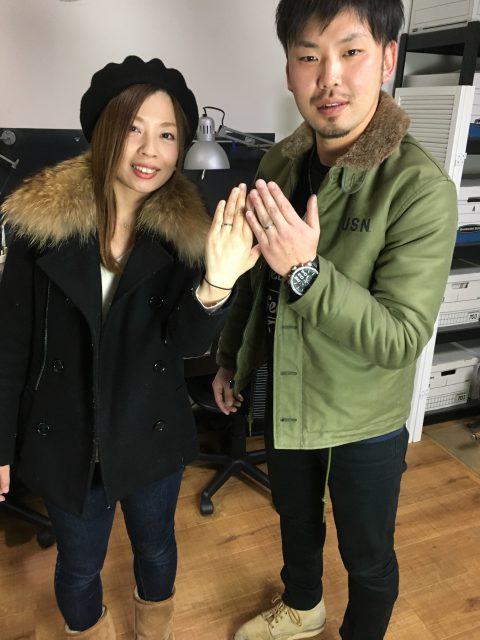 福岡北九州大分DITIQUE手づくり結婚指輪出来上がり