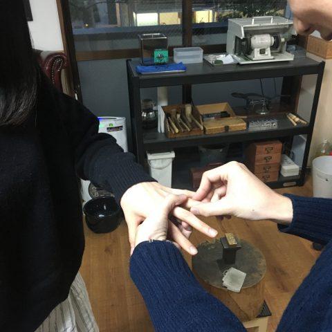 福岡婚約指輪DITIQUE北九州小倉我流婚約大分お渡し