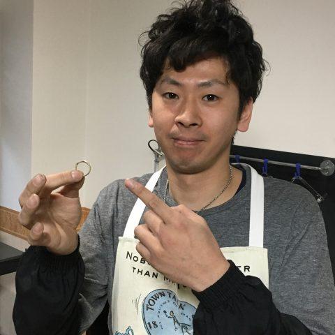 手造りリング鍛造自分でDITIQUE福岡北九州小倉完成出来上がり