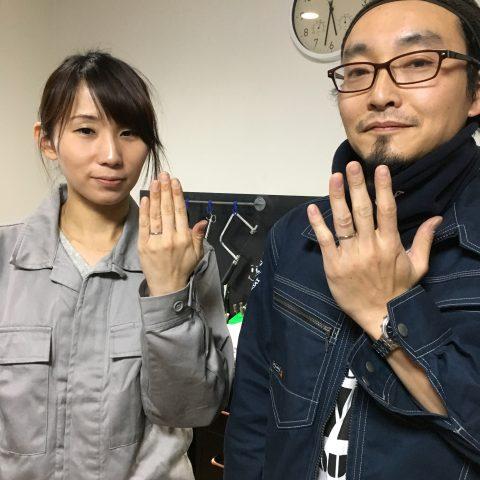 手づくり結婚指輪我流鍛造DITIQUE福岡北九州小倉完成
