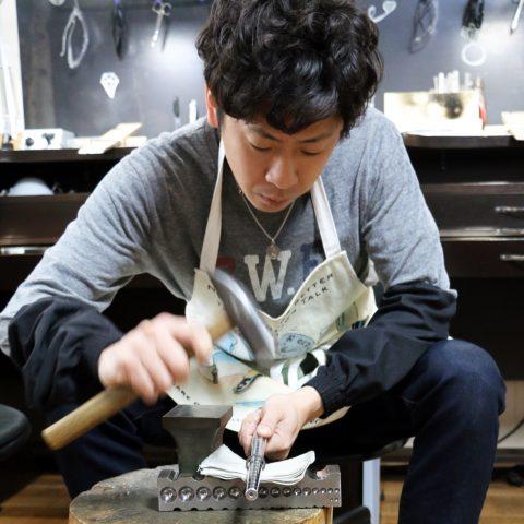 手造りリング鍛造自分でDITIQUE福岡北九州小倉叩き