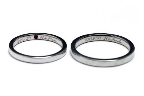 M様福岡手づくり結婚指輪DITIQUE小倉鍛造-2