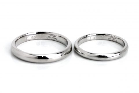 DITIQUE福岡小倉結婚指輪内側デザイン手書き絵