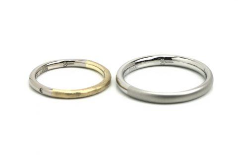 DITIQUE福岡小倉結婚指輪内側デザイン美容師