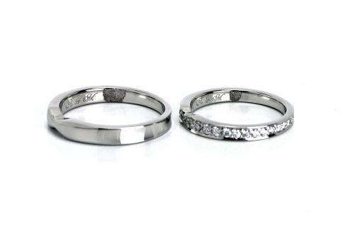 DITIQUE福岡小倉結婚指輪内側デザイン指紋