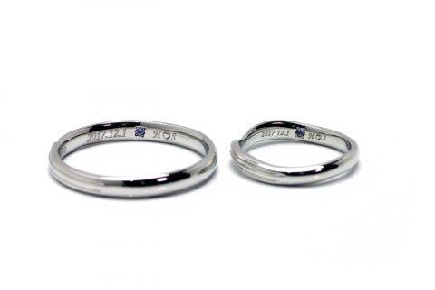 DITIQUE福岡小倉結婚指輪内側デザイン野球