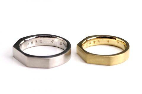 福岡北九州小倉DITIQUEジュエリー手づくり結婚指輪我流鍛造T様