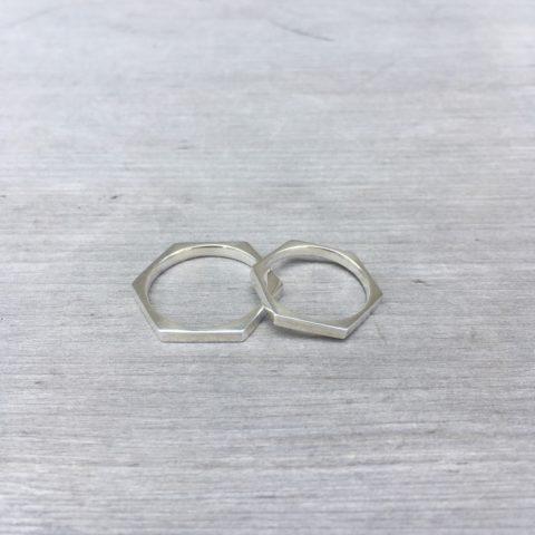 小倉福岡北九州DITIQUEマリッジリング六角形