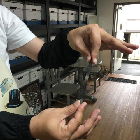 福岡北九州小倉DITIQUE手づくり我流鍛造ゴールドリング