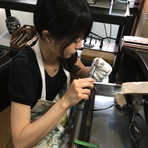 福岡北九州小倉手づくりジュエリー結婚指輪我流鍛造