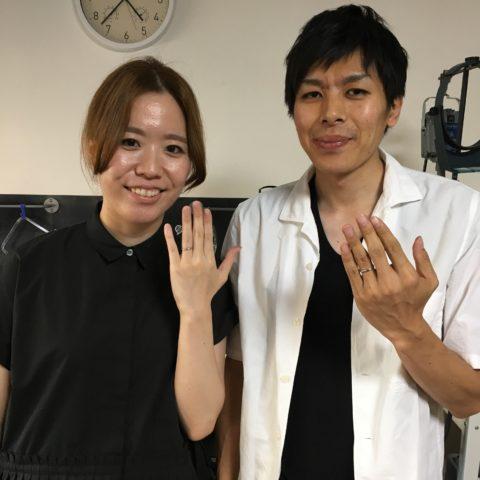 福岡北九州小倉手づくり結婚指輪DITIQUE長崎が笠鍛造