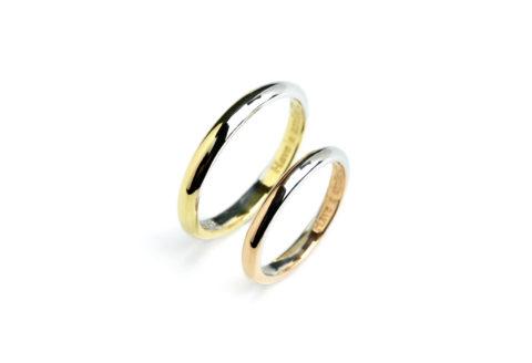 フルオーダーメイドマリッジリングDITIQUEコンビ福岡北九州小倉ジュエリー結婚指輪
