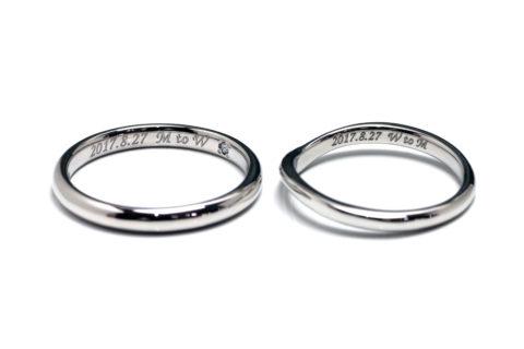 DITIQUEディティークオーダーメイドジュエリーマリッジリング結婚指輪シンプルデザイン福岡北九州天神大手門