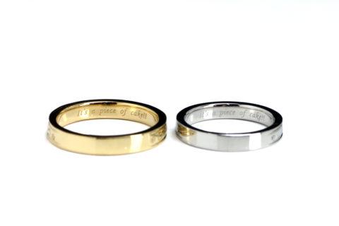 福岡我流鍛造DITIQUE宇宙兄弟太陽月犬肉球結婚指輪
